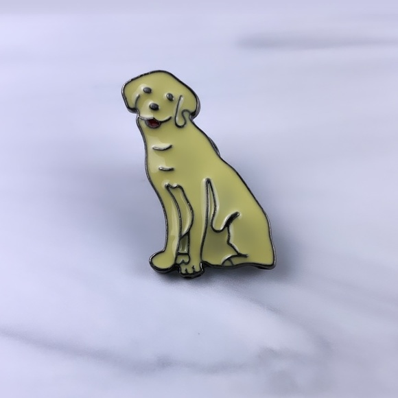 White Labrador Enamel Pin/ Brooch